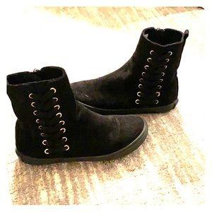 Girls Amiana zipper boots